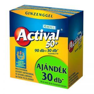 Béres Actival 50+ multivitamin tabletta - 90db+30db ajándék!