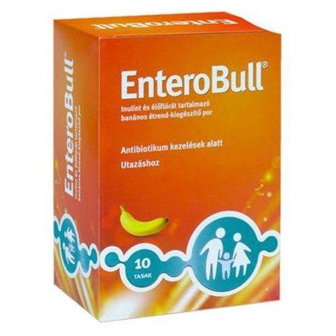 EnteroBull Inulint és Élőflórát tartalmazó banán ízű étrend-kiegészítő por - 10x4g