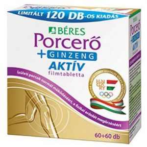 Béres Porcerő+Ginzeng aktív filmtabletta - 60+60db