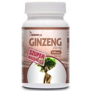 Netamin Ginzeng 250mg tabletta - 120db