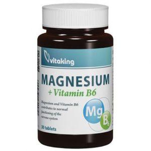 Vitaking Megnesium Citrate 150mg + B6-vitamin tabletta - 30db