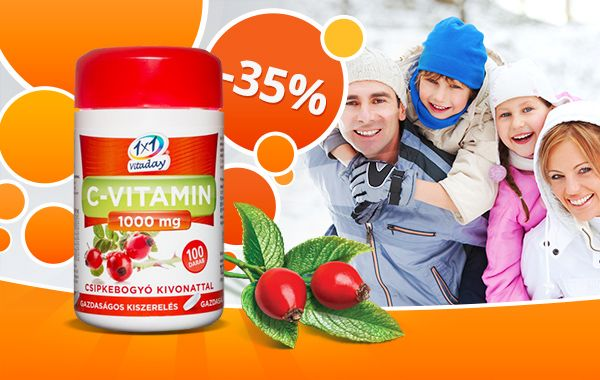 1×1 Vitaday csipkebogyós 1000mg-os C-vitamin