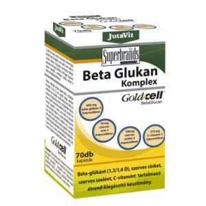86c1537797 Jutavit Béta Glukan komplex kapszula – 70db