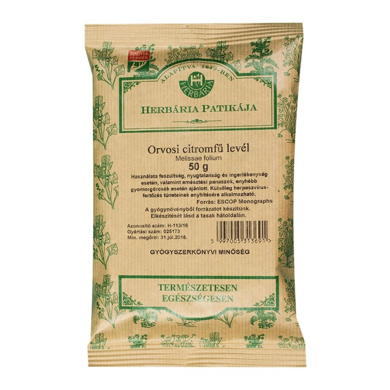 herbária citromfű tea vélemény nyugtató leviszi a vérnyomást