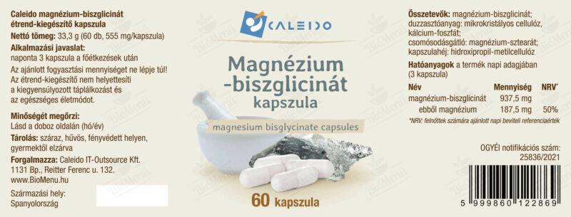 Caleido Magnézium biszglicinát 500mg kapszula – 60db