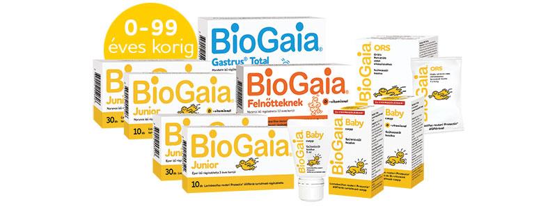 BioGaia élőflórát tartalmazó készítmények 0-99 éves korig